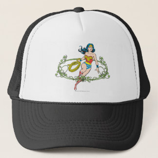 Wonder Woman Green Vines Trucker Hat