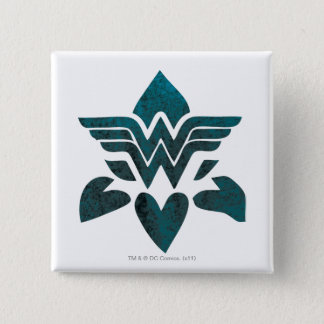 Wonder Woman Grunge Logo 15 Cm Square Badge