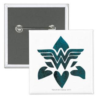 Wonder Woman Grunge Logo 15 Cm Square Badge