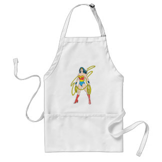 Wonder Woman Holds Lasso 5 Standard Apron