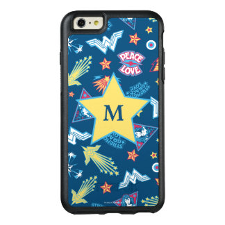 Wonder Woman Icons & Phrases Pattern | Monogram OtterBox iPhone 6/6s Plus Case