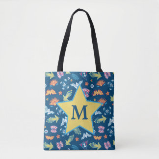 Wonder Woman Icons & Phrases Pattern | Monogram Tote Bag