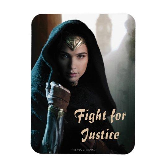 Wonder Woman in Cloak Rectangular Photo Magnet