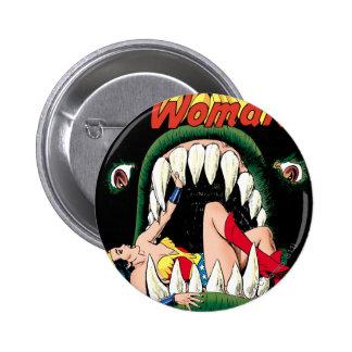 Wonder Woman Jaws 6 Cm Round Badge