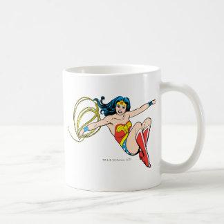 Wonder Woman Jumping Basic White Mug