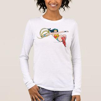 Wonder Woman Jumping Long Sleeve T-Shirt