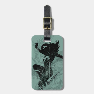 Wonder Woman Landing Foliage Graphic Luggage Tag