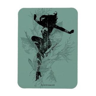 Wonder Woman Landing Foliage Graphic Magnet