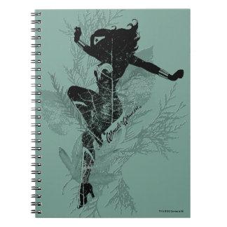 Wonder Woman Landing Foliage Graphic Notebook