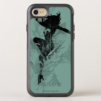 Wonder Woman Landing Foliage Graphic OtterBox Symmetry iPhone 8/7 Case