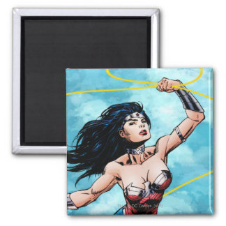 Wonder Woman & Lasso of Truth Square Magnet
