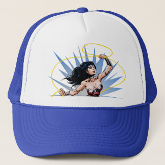 Wonder Woman & Lasso of Truth Trucker Hat
