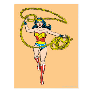 Wonder Woman Lasso over Head Postcard