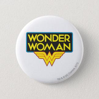 Wonder Woman Logo 3 6 Cm Round Badge