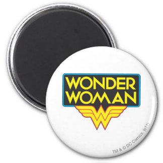 Wonder Woman Logo 3 6 Cm Round Magnet