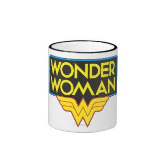 Wonder Woman Logo 3 Ringer Mug