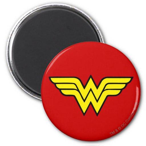Wonder Woman Logo 6 Cm Round Magnet