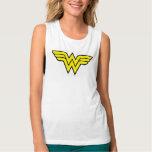 Wonder Woman Logo Flowy Muscle Tank Top