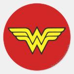 Wonder Woman Logo Round Sticker