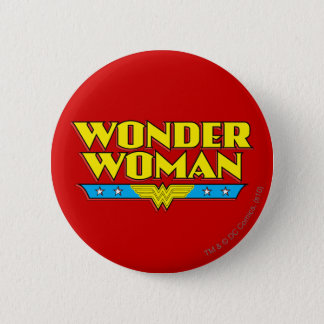 Wonder Woman Name and Logo 6 Cm Round Badge