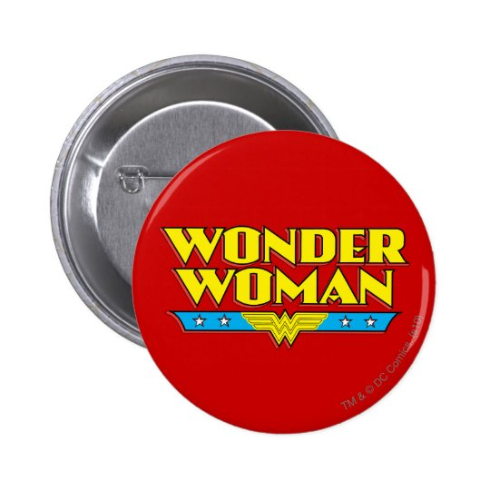 Wonder Woman Name and Logo 6 Cm Round Badge