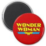 Wonder Woman Name and Logo 6 Cm Round Magnet