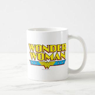 Wonder Woman Name and Logo Basic White Mug