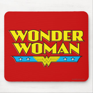 Wonder Woman Name and Logo Mouse Mat