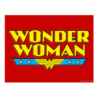 Wonder Woman Name and Logo Postcard