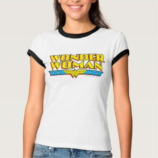 Wonder Woman Name and Logo T-Shirt