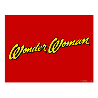 Wonder Woman Name Postcard