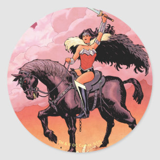 Wonder Woman New 52 Comic Cover #24 Classic Round Sticker