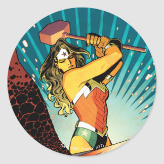 Wonder Woman New 52 Comic Cover #7 Classic Round Sticker