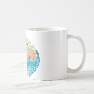 Wonder Woman Ocean Sky Basic White Mug