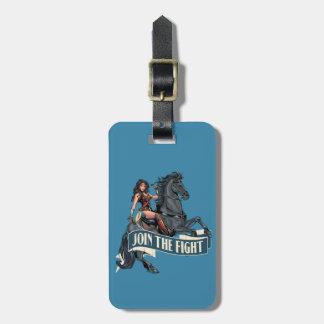 Wonder Woman on Horse Comic Art Luggage Tag