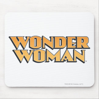 Wonder Woman Orange Logo Mouse Pad