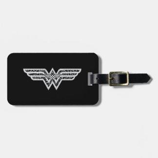 Wonder Woman Paisley Logo Bag Tag