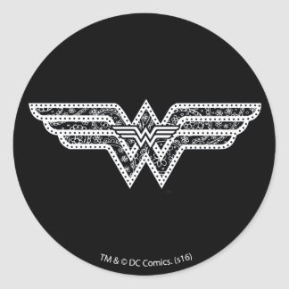 Wonder Woman Paisley Logo Classic Round Sticker