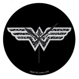 Wonder Woman Paisley Logo Clock