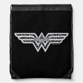 Wonder Woman Paisley Logo Drawstring Bag