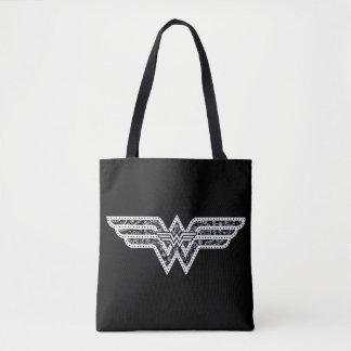 Wonder Woman Paisley Logo Tote Bag