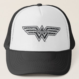 Wonder Woman Paisley Logo Trucker Hat
