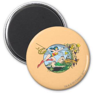 Wonder Woman Paradise Island 6 Cm Round Magnet