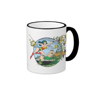 Wonder Woman Paradise Island Ringer Mug