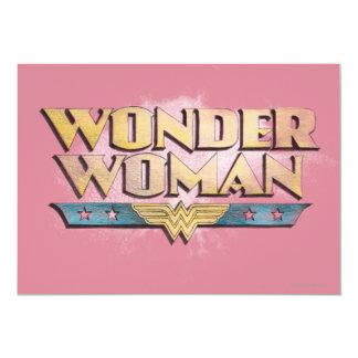 Wonder Woman Pencil Logo 13 Cm X 18 Cm Invitation Card