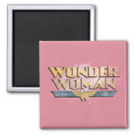 Wonder Woman Pencil Logo Square Magnet