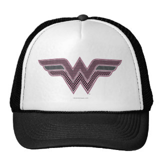 Wonder Woman Pink and Black Checker Mesh Logo Cap