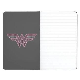 Wonder Woman Pink and Black Checker Mesh Logo Journals