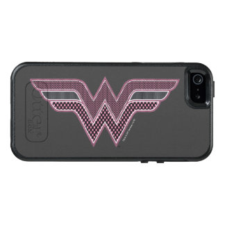 Wonder Woman Pink and Black Checker Mesh Logo OtterBox iPhone 5/5s/SE Case