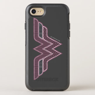 Wonder Woman Pink and Black Checker Mesh Logo OtterBox Symmetry iPhone 7 Case